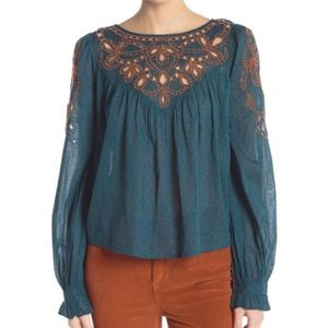 Everything I Know Cotton Peasant Blouse